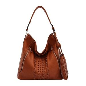 Melie Bianco Brown Vegan Leather Purse